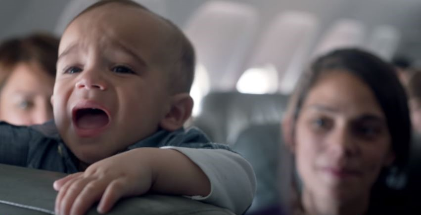 1 2 Airline Finds Incredible Way To Turn Crying Babies On Flights Into A Positive