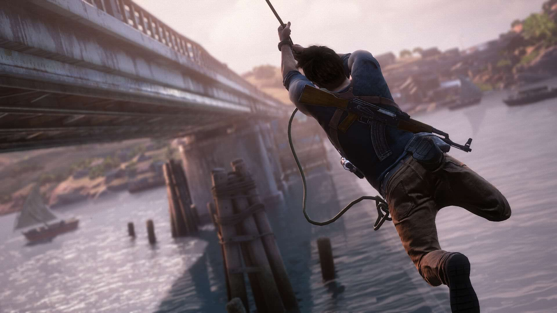 2759115 uncharted 4 drake rope bridge 1434429051 1 How One Disabled Player Inspired Uncharted 4s Accessibility Options