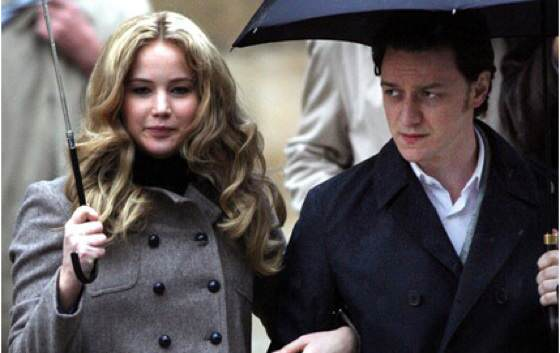 James McAvoy and Jennifer Lawrence Close Up Jennifer Lawrence Admits James McAvoy Shot Her With BB Gun While She Was Peeing