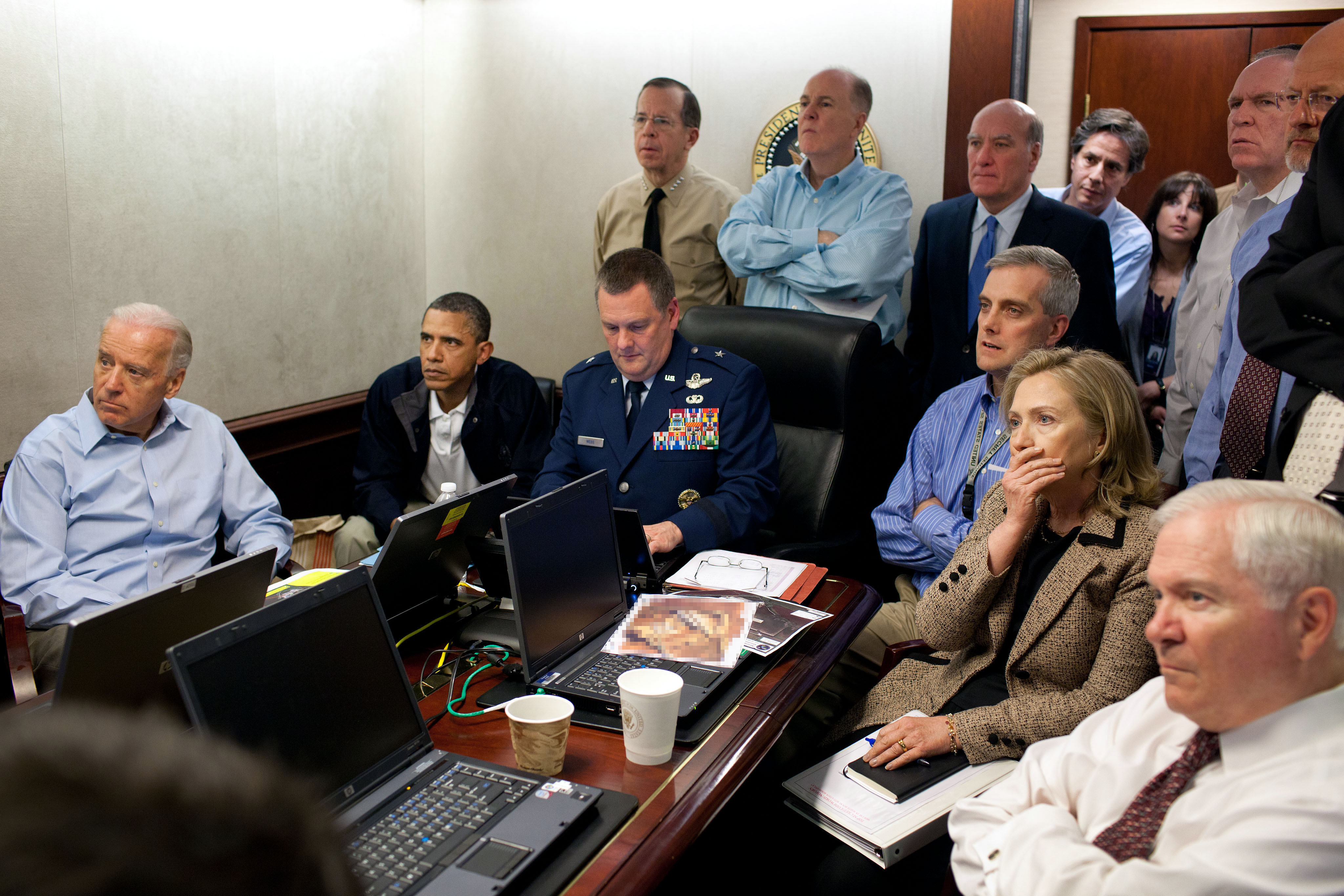 Obama and Biden await updates on bin Laden CIA In Trouble Over Weird Way They Celebrated Bin Ladens Killing