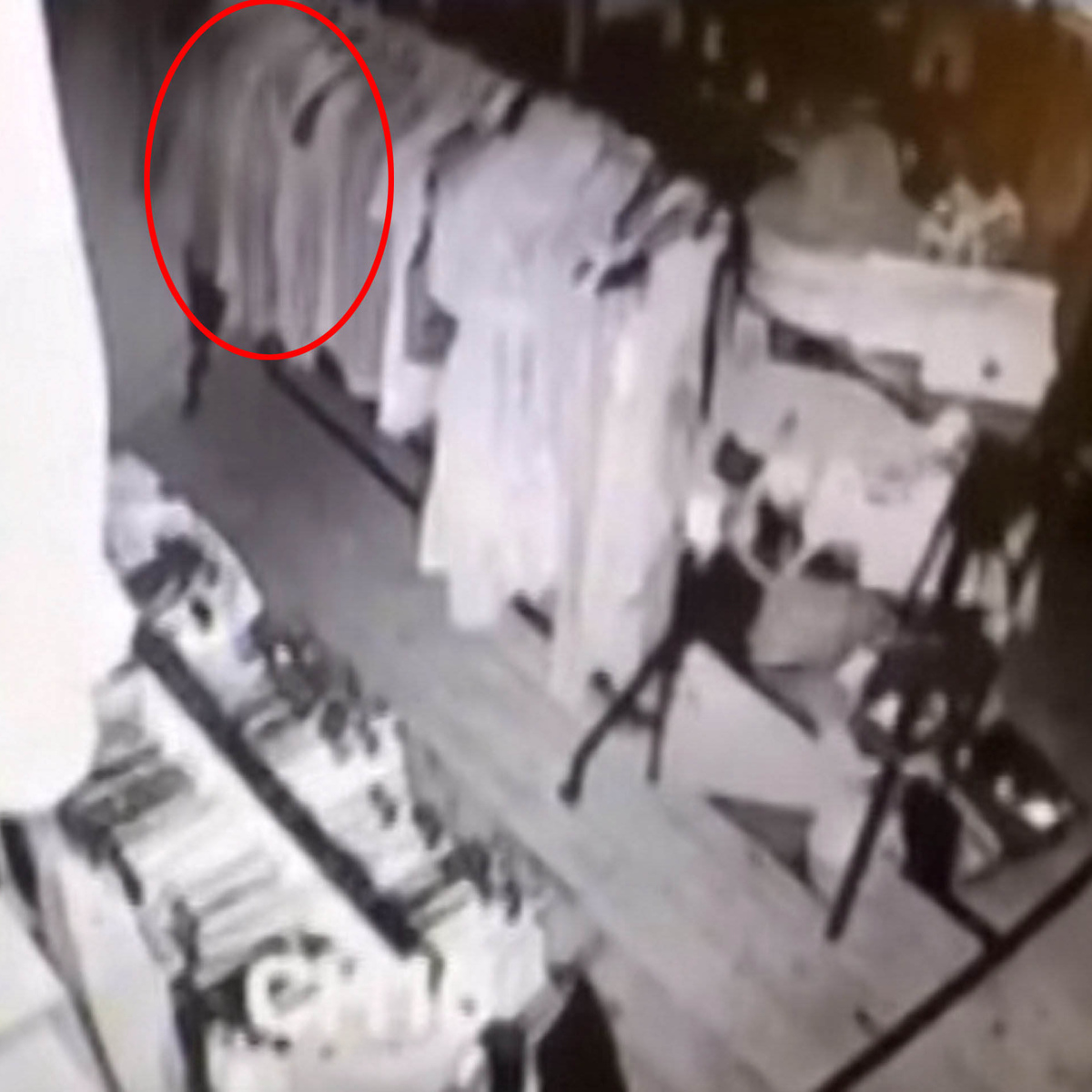 SWNS SHOP GHOST 04A Creepy As F*ck CCTV Footage Shows Ghost Wandering Around Vintage Store