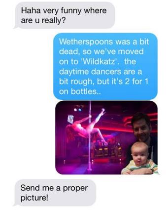 baby2 Dad Torments Mum With Hilarious Photoshop Pics Of Babys Day Out