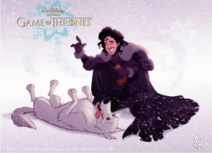 Artist Re Imagines Game Of Thrones As Disney Film And Its Glorious disney3