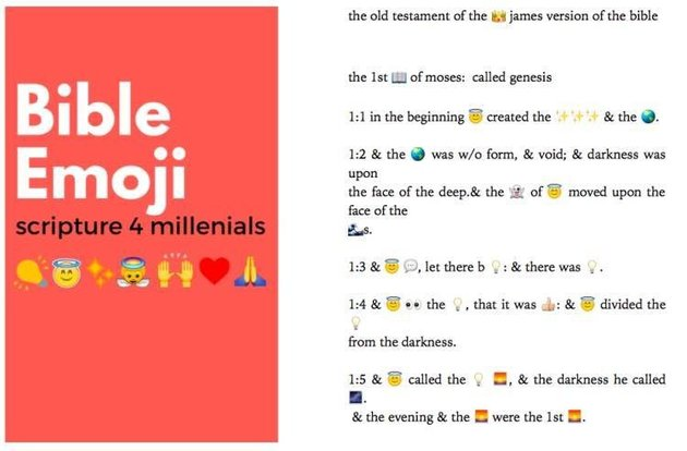Churchs New Attempt To Bring Religion To Kids Is Cringey As F*ck emoji bible