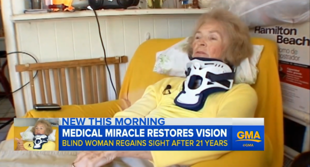 good Womans Eyesight Returns After 20 Years In Weirdest Way Possible