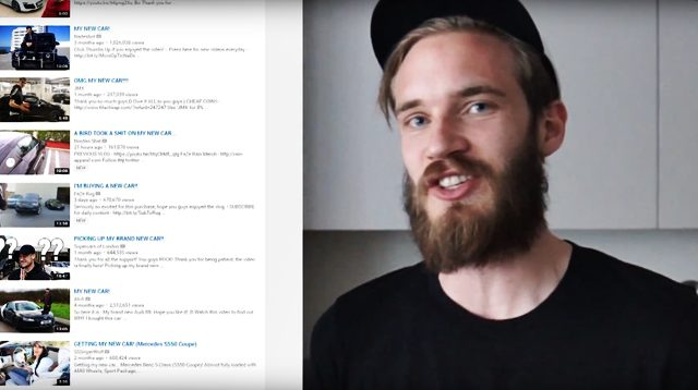 pewdiepie 01 640x358 PewDiePie Blows His YouTube Money On A Slick New Car