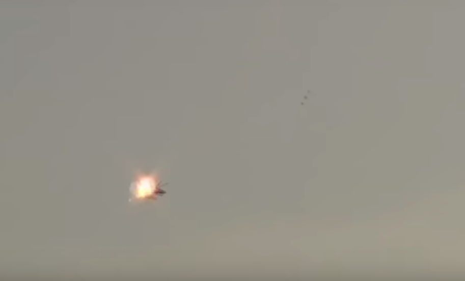 pkk Shocking Video Shows Militant Shooting Down Helicopter With Missile Launcher