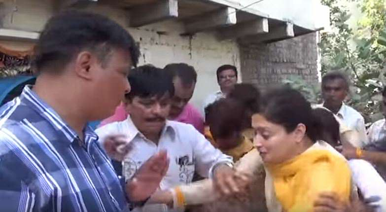 Unlucky MP Falls Into Massive Sewer During Live Interview poonam4