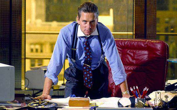 5 Movie Baddies That You Could Easily Beat Up In Real Life wall street douglas