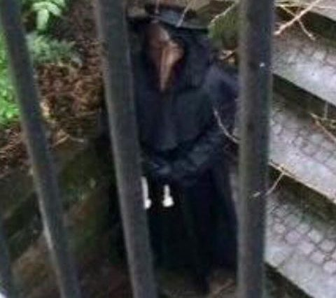 13419039 1738686139718088 5366953154279726661 n 480x426 Footage Shows Creepy Plague Doctor Stalking The Streets Of British City