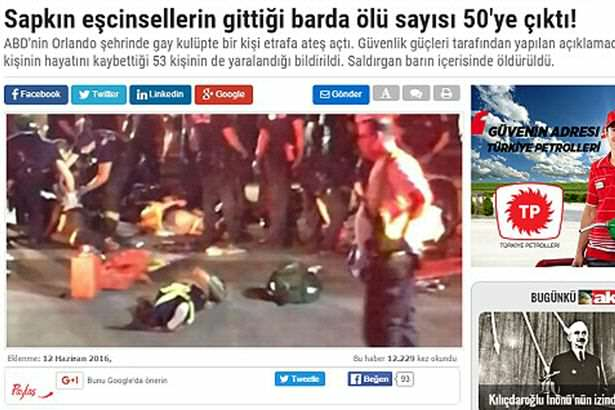 3531E33200000578 3638055 image m 2 1465770182786 Turkish Newspaper Mocks Orlando Shooting With Homophobic Headline
