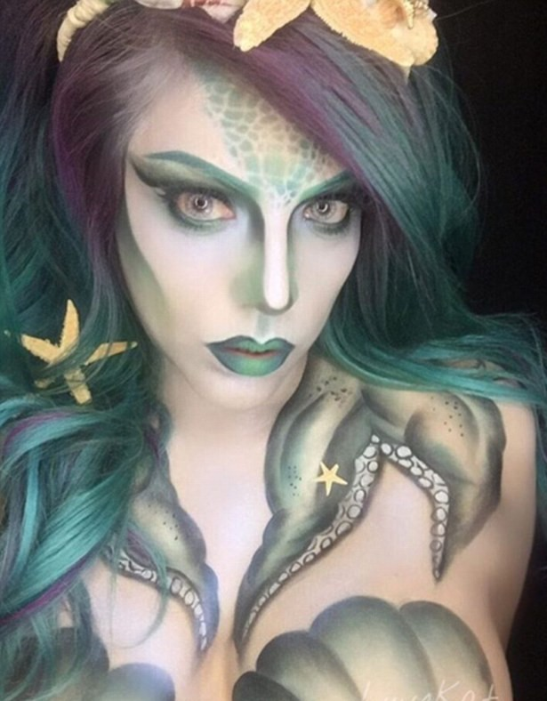 35B53EE500000578 3661606 Body paint Another Instagrammer shares her darker take on the se a 2 1467012220754 This New Makeup Trend Is Taking Instagram By Storm