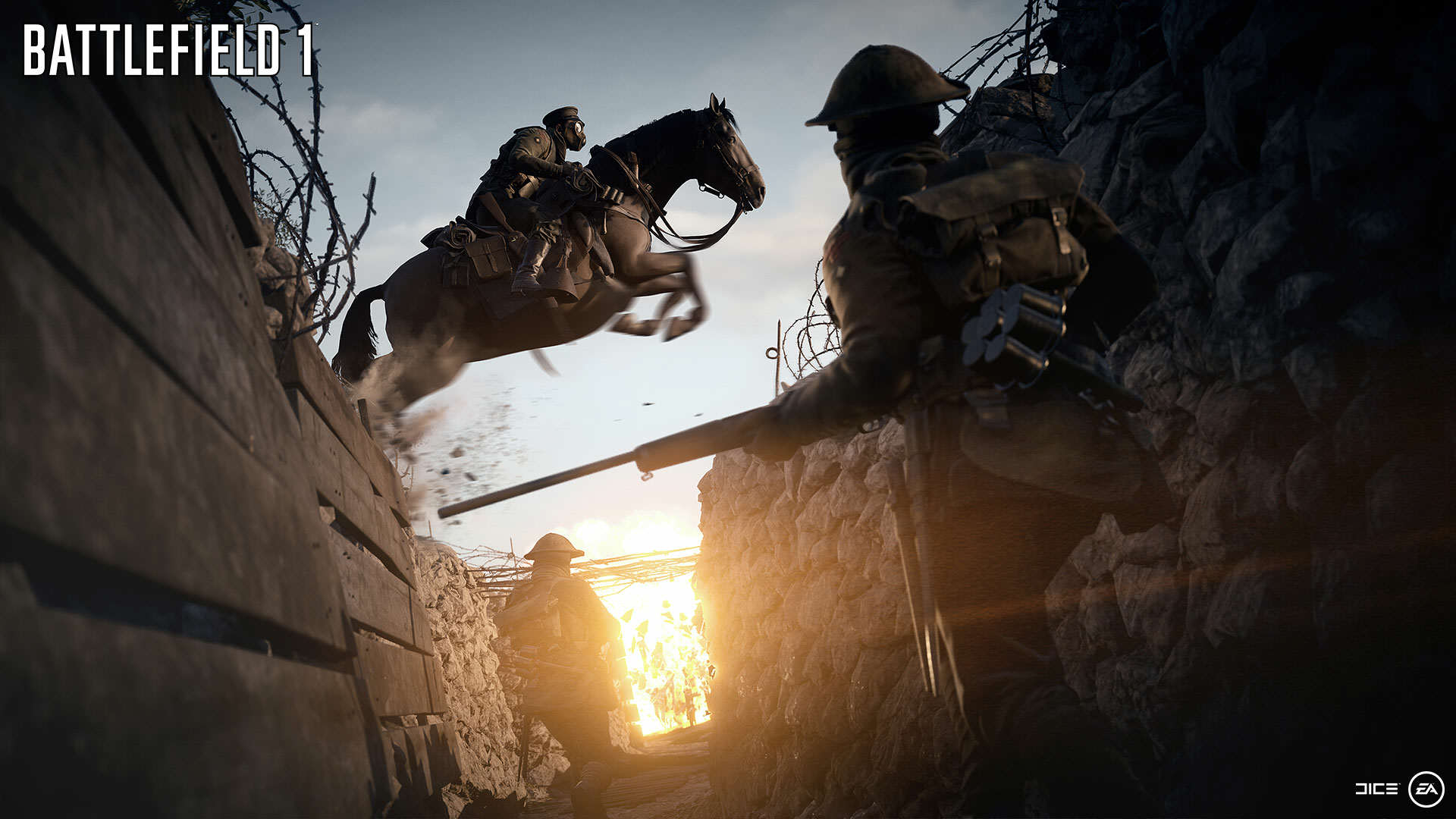 BF1 EA PLAY 06 HORSES WM Battlefield 1 Gets Epic New Trailer And Gameplay Features