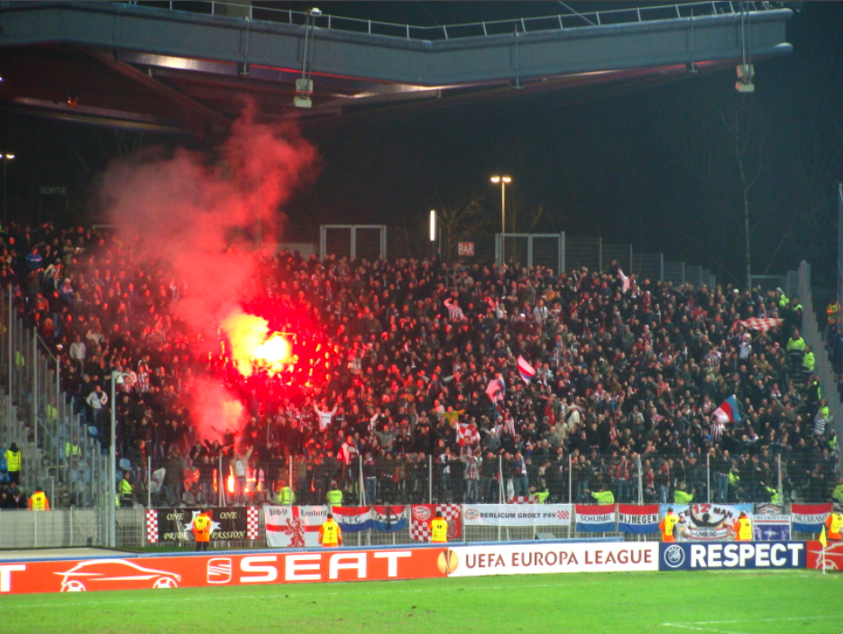 Supporters LOSC vs PSV Eindhoven French Football Fan Smuggles Flare In Most Uncomfortable Way Possible