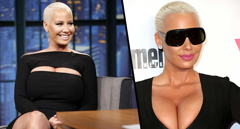 amber rose FB Amber Rose Reveals Bizarre Parenting Technique To Cheer Up Her Young Son