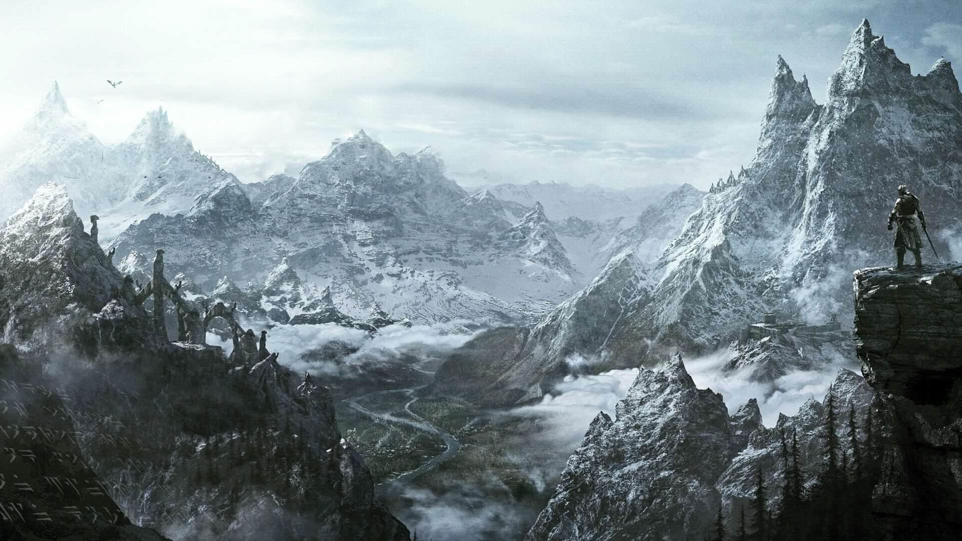 skyrim mountains Bethesda Speak Out On Skyrim Remaster