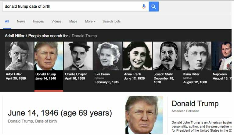 Can You See Whats So Shocking About Donald Trumps Google Results? trump google