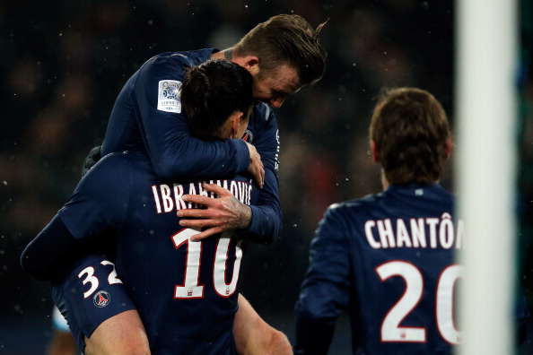 Zlatan Reveals Which United Legend Convinced Him To Join The Club Beckham PSG Getty