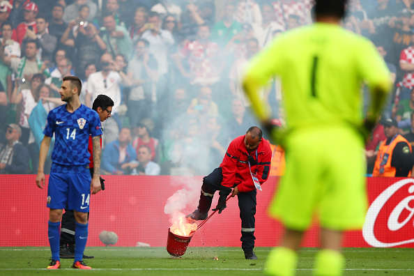 UEFA Attempt To Destroy Welsh Spirits With Latest Awful Decision Croatia Flare Getty