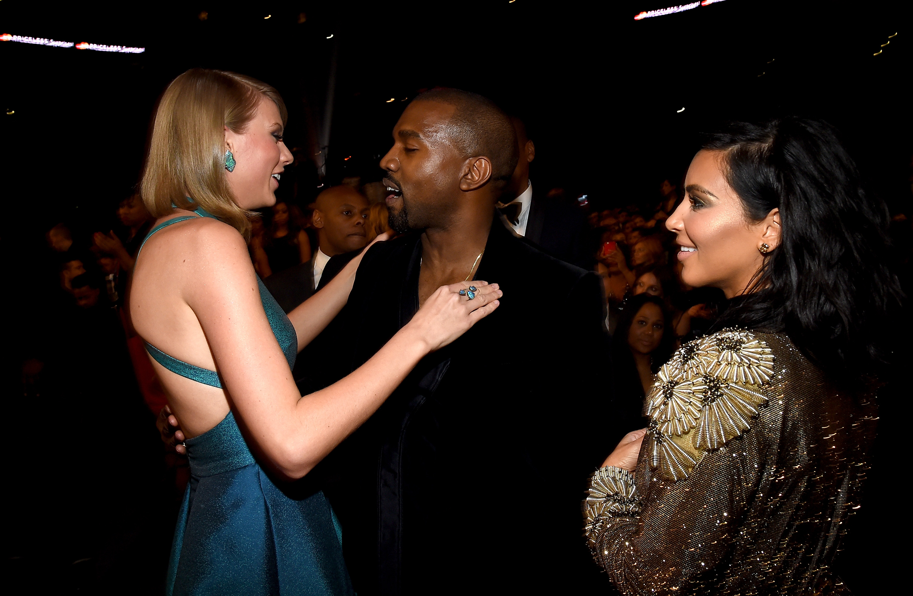GettyImages 463036782 Kim Kardashian Just Exposed Taylor Swift Big Time On Snapchat
