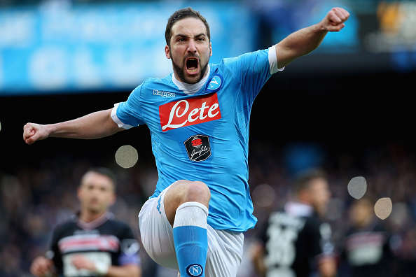 Evras Reaction To Juventus Signing Higuain Is The Best Thing Youll See Higuain Getty Napoli 2