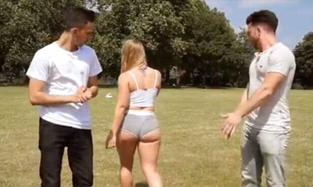Big Booty Experiment Gets Disturbing Reaction From The Public Woman wears very short shorts in London park to see how people react 3