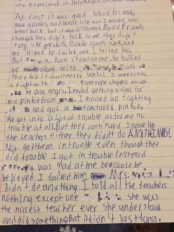 17ba8cb957afb4a2fee819817f7a4f26 Heartbreaking Final Letter Of Bullied Schoolboy Who Commited Suicide