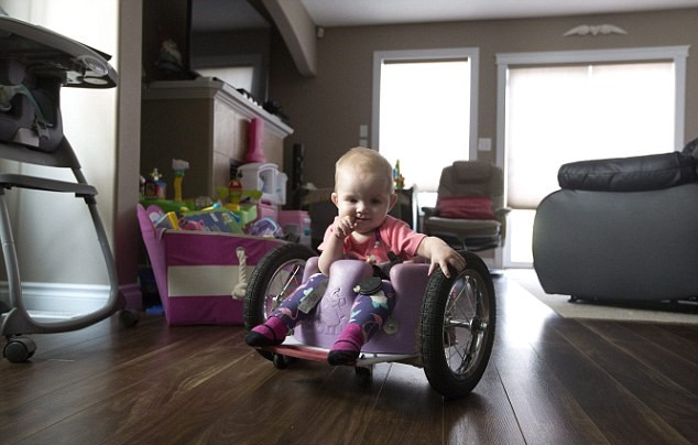 371C7D4500000578 3744173 Speedy She went backwards first then she went forwards then she  a 21 1471387290703 Parents Build Awesome Homemade Wheelchair For Paralysed Daughter