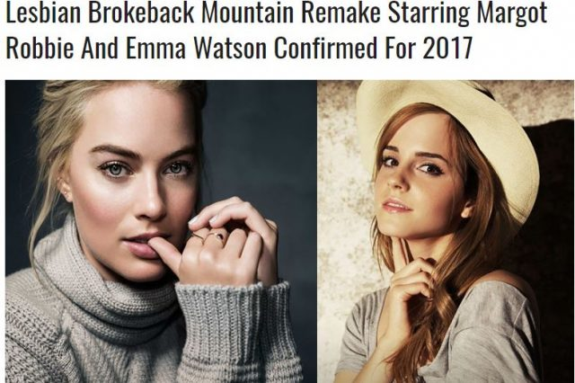 Brokeback1 640x426 People Think Margot Robbie And Emma Watson Are Doing Brokeback Mountain 2
