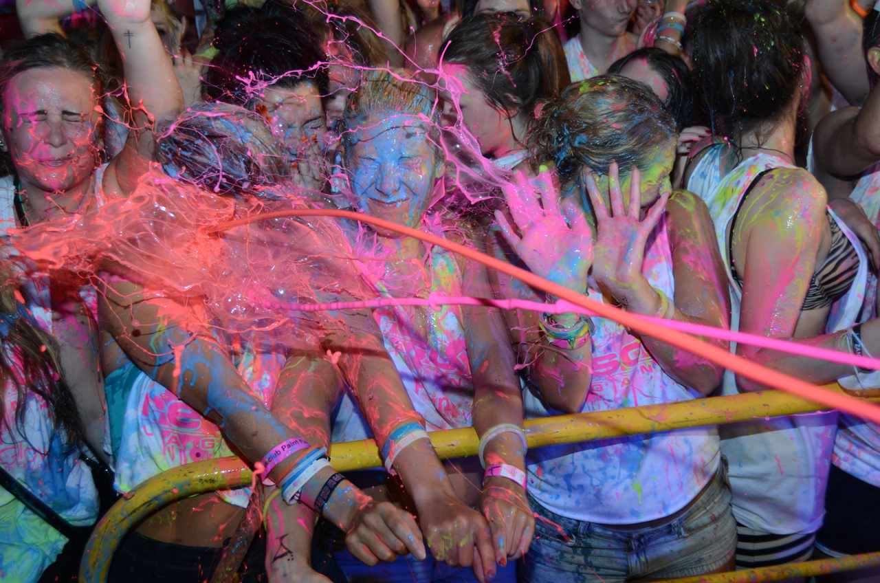 Club Ice UV Paint Party Ayia Napa Brits Caught In X Rated Magaluf Paint Party