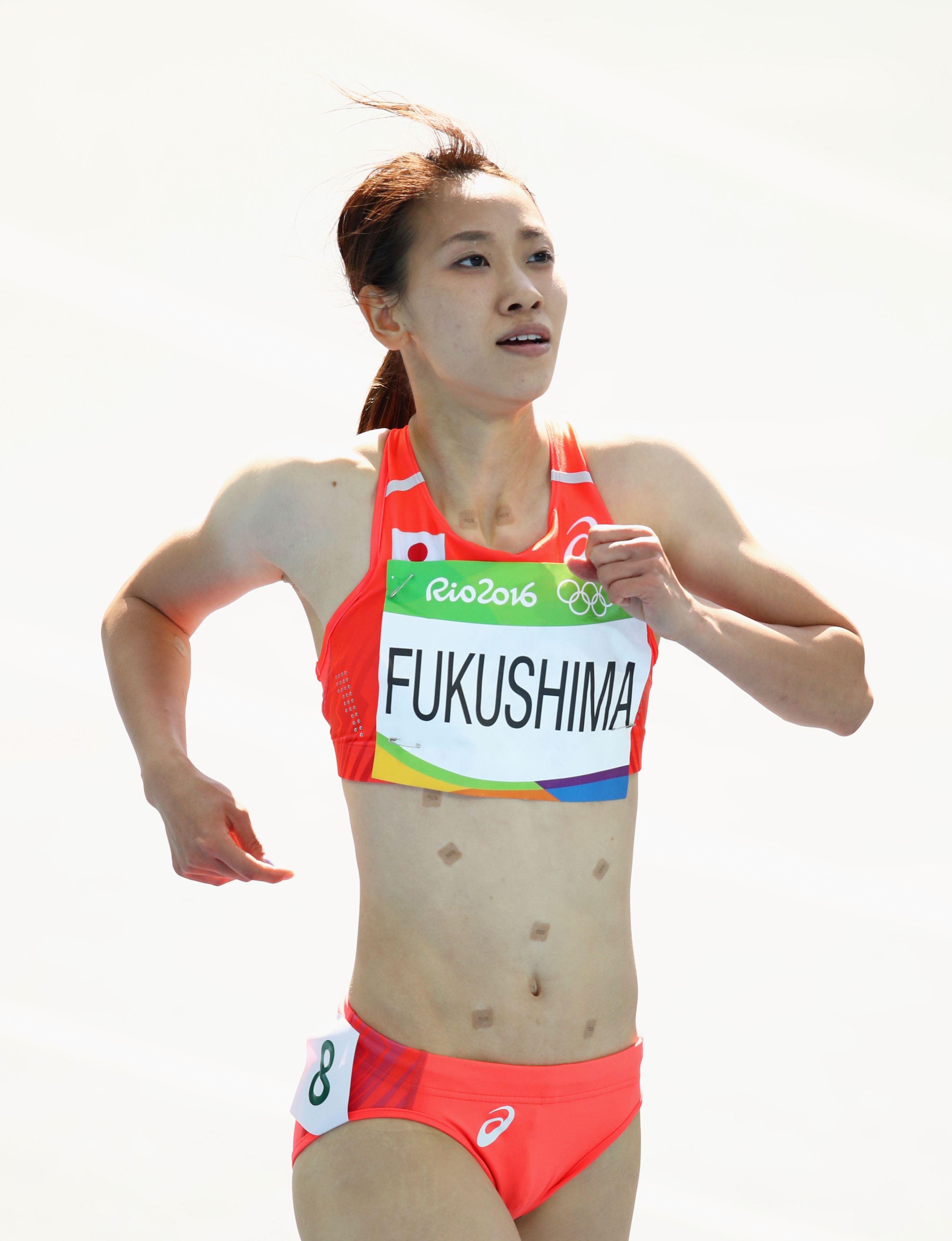 GettyImages 589705648 Heres Why Japans Chisato Fukushima Wore Patches While Running In Rio