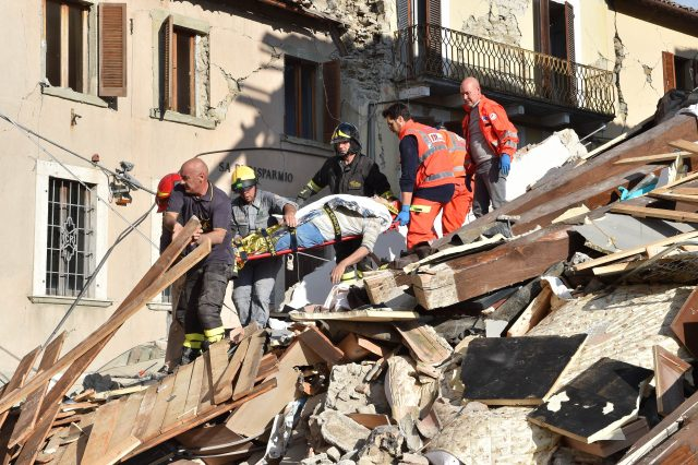 Incredible Moment Girl, 10, Rescued From Italy Earthquake After 17 Hours GettyImages 594748180 640x426