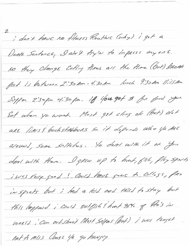 Jeff Wood Letter 2 This Harrowingly Depressing Letter Reveals The Reality Of Death Row