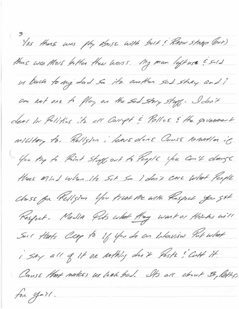 Jeff Wood Letter 3 This Harrowingly Depressing Letter Reveals The Reality Of Death Row