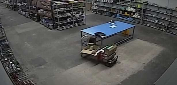 Loading trolley is possessed Startling Video Shows Poltergeist Pushing Warehouse Trolley