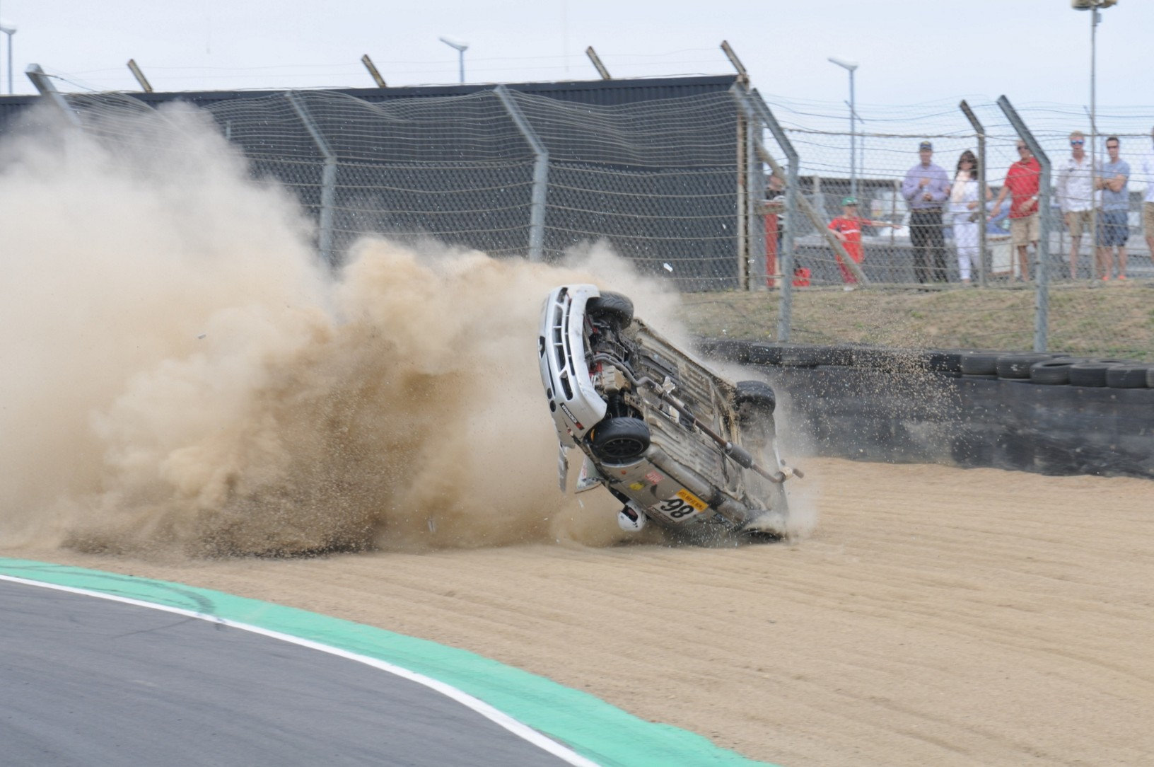 SWNS SMASH SEQUENCE 06 Incredible Moment Racing Driver Survives Crash With Head Out Of Window
