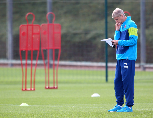 Wenger Getty Training Wenger Explains Why He WONT Spend Money In Transfer Market