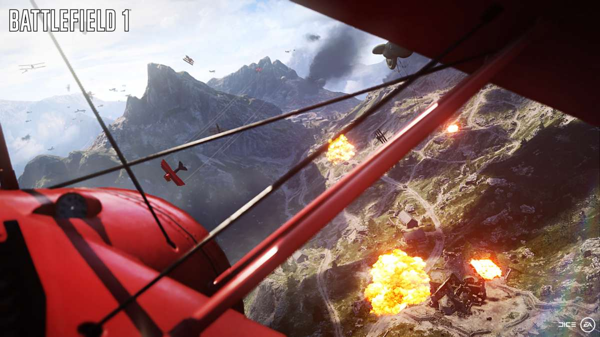 battlefield 1 bi plane screenshot