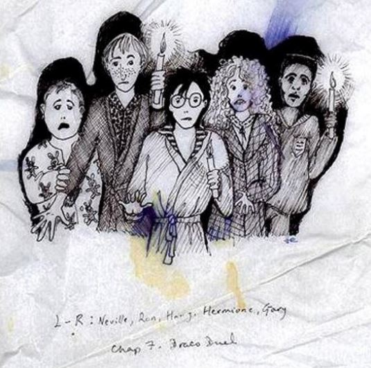 potter 7 JK Rowling Just Released Some Amazing Early Sketches Of Harry Potter Characters