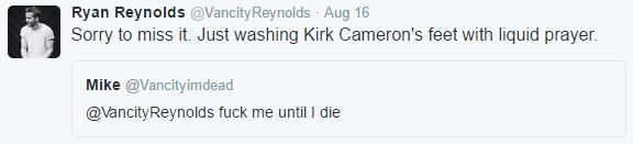 Its Impossible To Gross Out Ryan Reynolds On Twitter It Seems ryan tweet 2