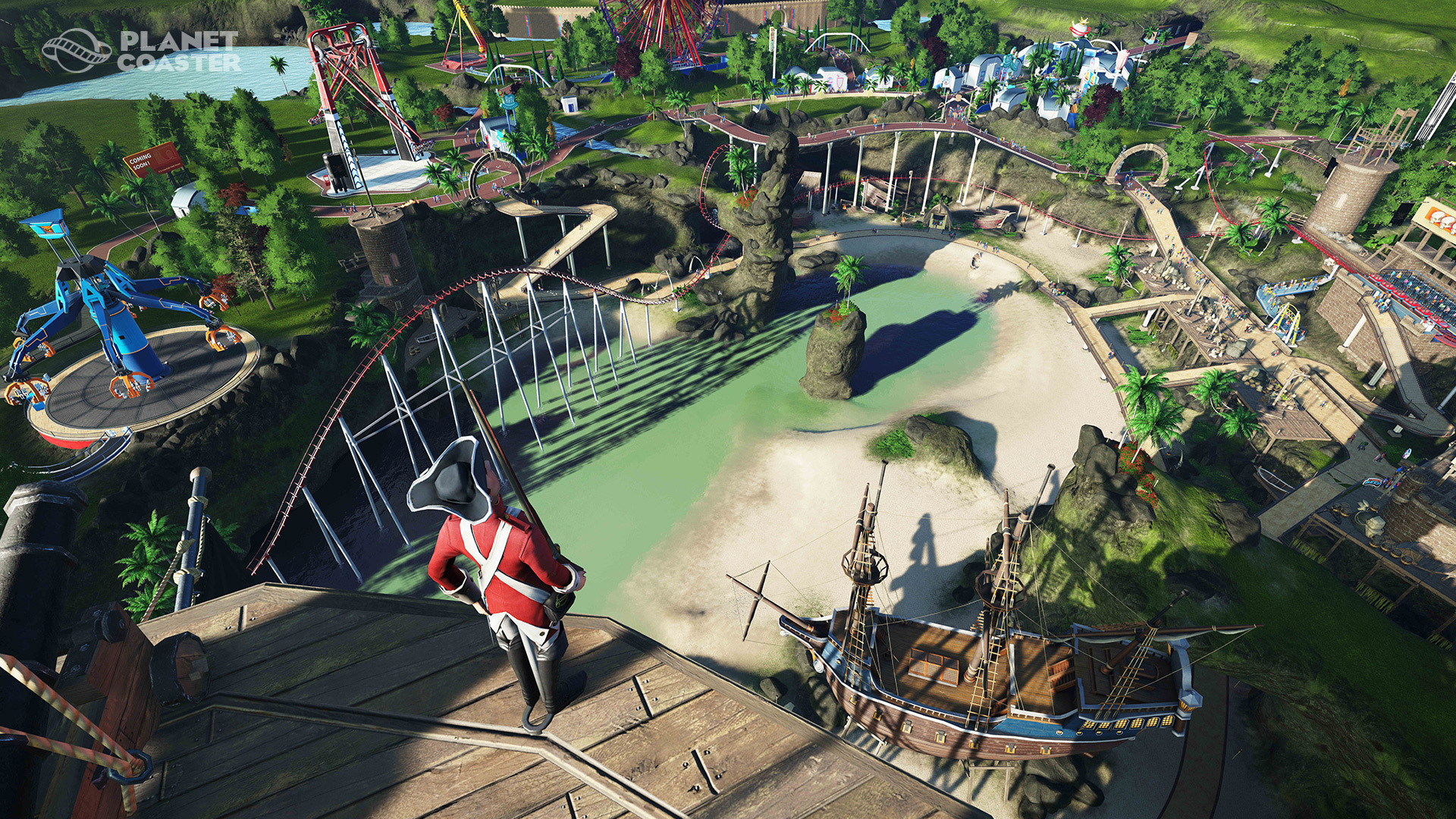 ss 0a71684951f4ac4f0809e7adfc8a824f046ce6d3.1920x1080 See RollerCoaster Tycoon Inspired Planet Coaster In Action