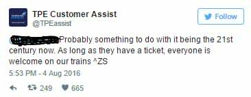 transpen 5 TransPennine Express Had The Perfect Response To Tweet From Rude Commuter