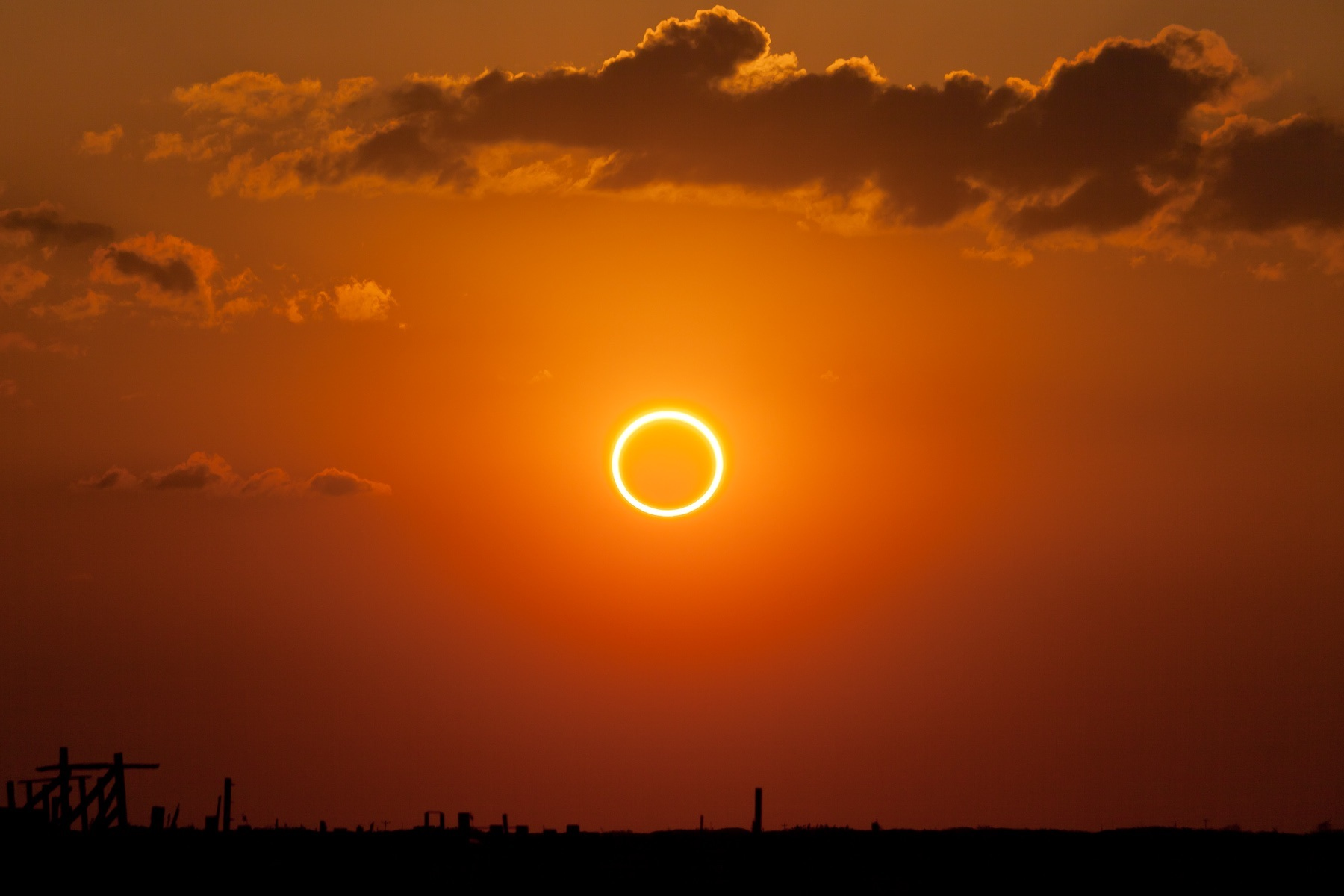 Annular eclipse  ring of fire  Rare Black Moon Will Bring End Of World   On Friday