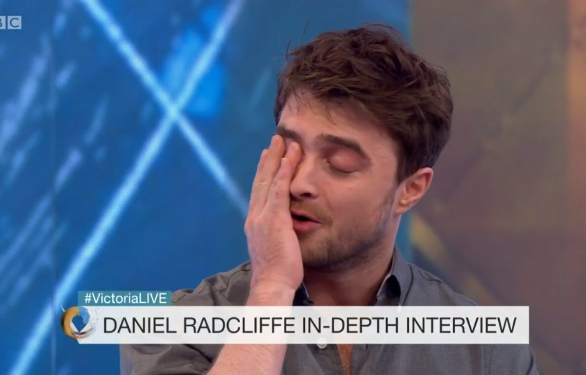 DanielVictoriaDerbyshire1 1200x768 Daniel Radcliffe Admits Hollywood Is Undeniably Racist