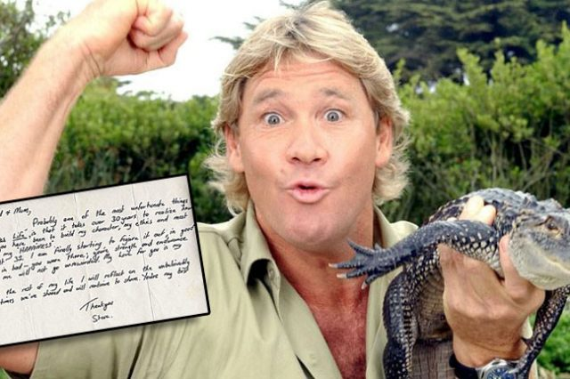 Secret Steve Irwin Letter From Beyond The Grave Has Been Discovered