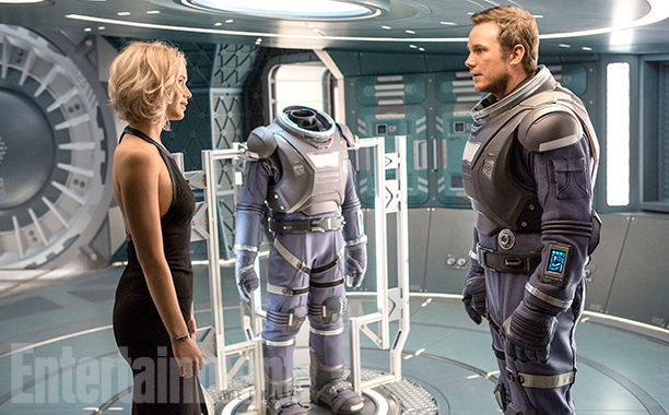 ew passengers9000233227 Jennifer Lawrence And Chris Pratt Impress In First Passengers Trailer
