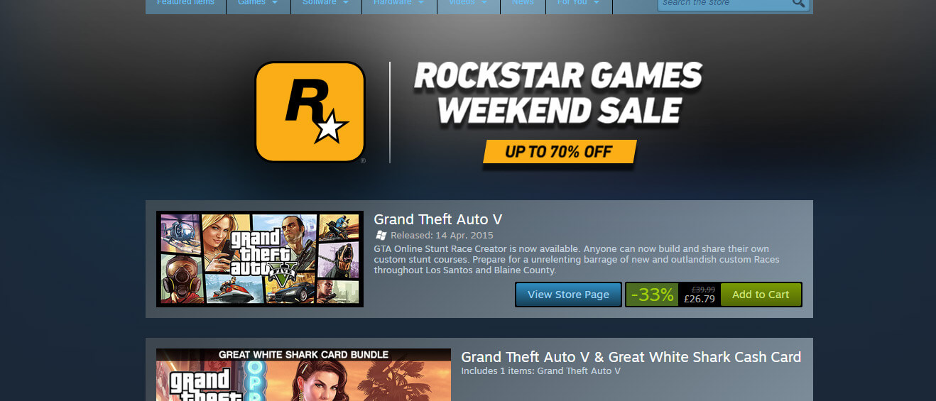 mJRzVxP Tons Of Great Rockstar Games Discounted In New Steam Sale