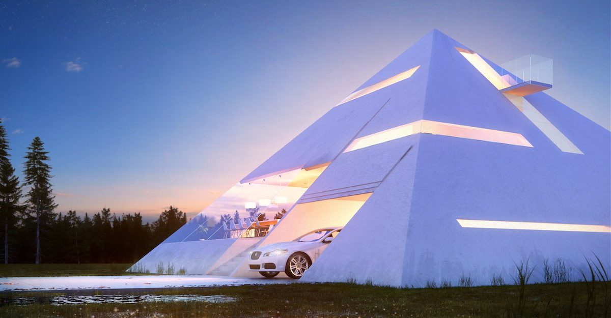 pyramid house 03 1200x625 Someone Designed A Perfect Pyramid House And We Want It