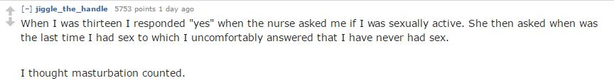 reddit 4 Nurses Reveal Ridiculous Things People Say When Asked About Sexual History