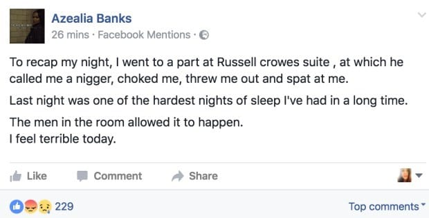 Azealia Banks Makes Shocking Allegations After Being Thrown Out Of Russell Crowes Party 23640UNILAD imageoptim 1192683